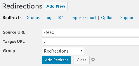 WordPress301重定向跳转插件:Redirection设置教程