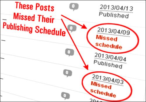WordPress解决定时发布功能失败的问题(插件WP Missed Schedule Posts)