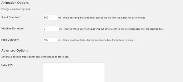 WordPress返回顶部插件 Scroll Back to Top