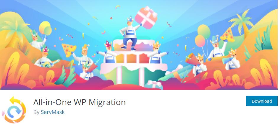 WordPress网站搬家插件 All-in-One WP Migration