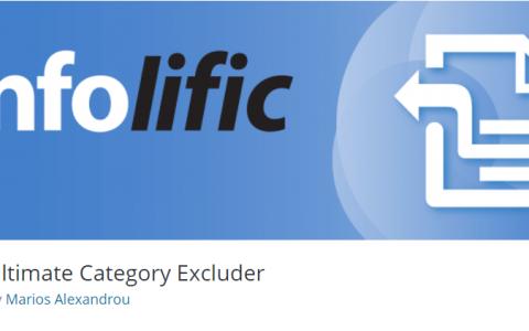WordPress排除特定分类插件 Ultimate Category Excluder