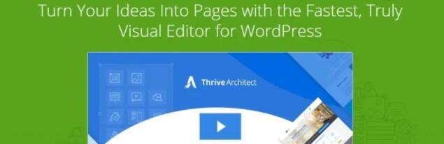 WordPress优秀的页面构建工具插件 Thrive Architect