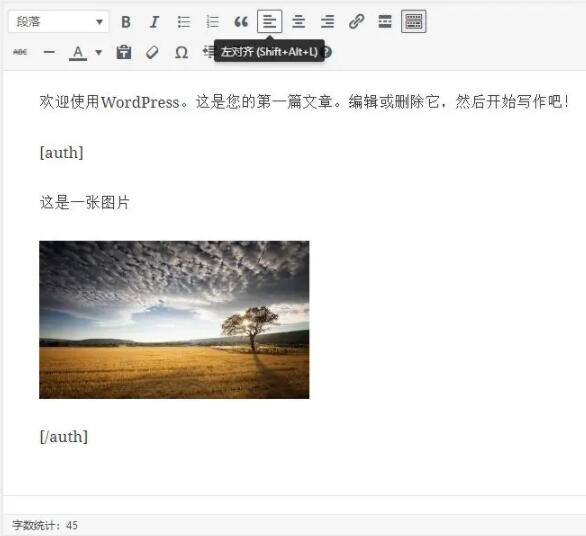wordpress指定内容加密方法