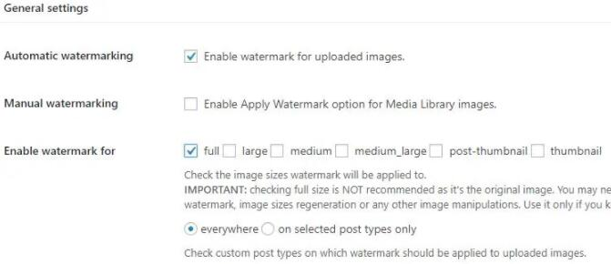 image watermark设置自动上传