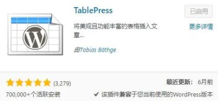 TablePress插件