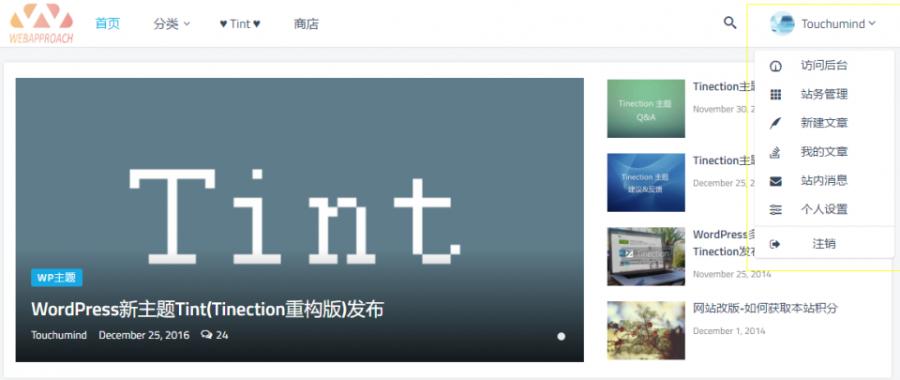 WordPress商业主题 Tint 2.7.0-Pro破解版 (Tinection重构版)
