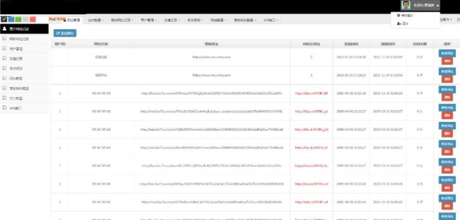 P01-PHP域名防封微信域名防红完美版网站源码 支持实时检测域名+防红检测API